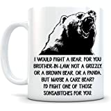 memory gift - Coffee Mug Gift, Terrific Brother-in-Law – Funny Brother-In-Law Gifts – Birthday Gift Ideas For Worlds Best Brother-In-Law- 11 oz Coffee Mug Tea Cup White, VT14