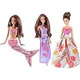 ADM 1021 - Los vestidos de la sirenita (Set de 3, sin muñecas)