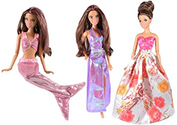 AllDollModa ADM 1021 - Los vestidos de la sirenita (Set de 3, sin muñecas