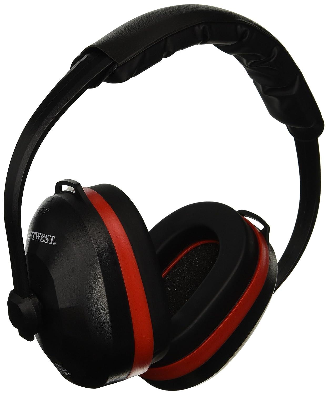 Portwest PW43 EN352 Comfort Safety Ear Protector Muffs, Black   B00GJB8K42