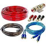 CK-1000 Jeu complet de câble de connexion pour étage final d'amplificateur HiFi de voiture 10mm²Avec câble RCA