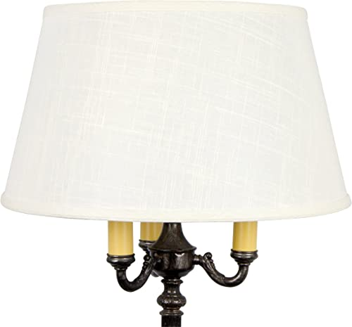 Upgradelights Replacement Lamp Shade for Old Floor Lamps Laminated Off White Linen