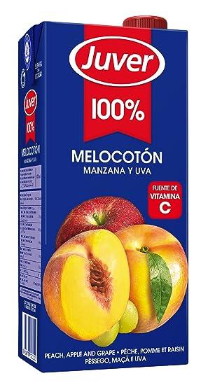 Juver - Zumo De Melocotón Manzana y Uva, 1 L