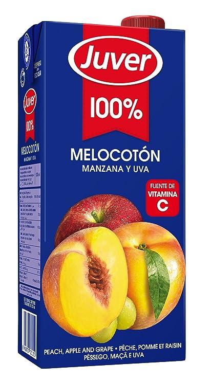 Juver - Zumo De Melocotón Manzana y Uva, 1 L: Amazon.es: Alimentación y bebidas