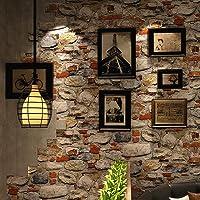 HaokHome 620642 Peel & Stick Rock Stone Wallpaper Orange/Tan/Grey Self Adhesive Contact Paper Wall Furniture Sticker