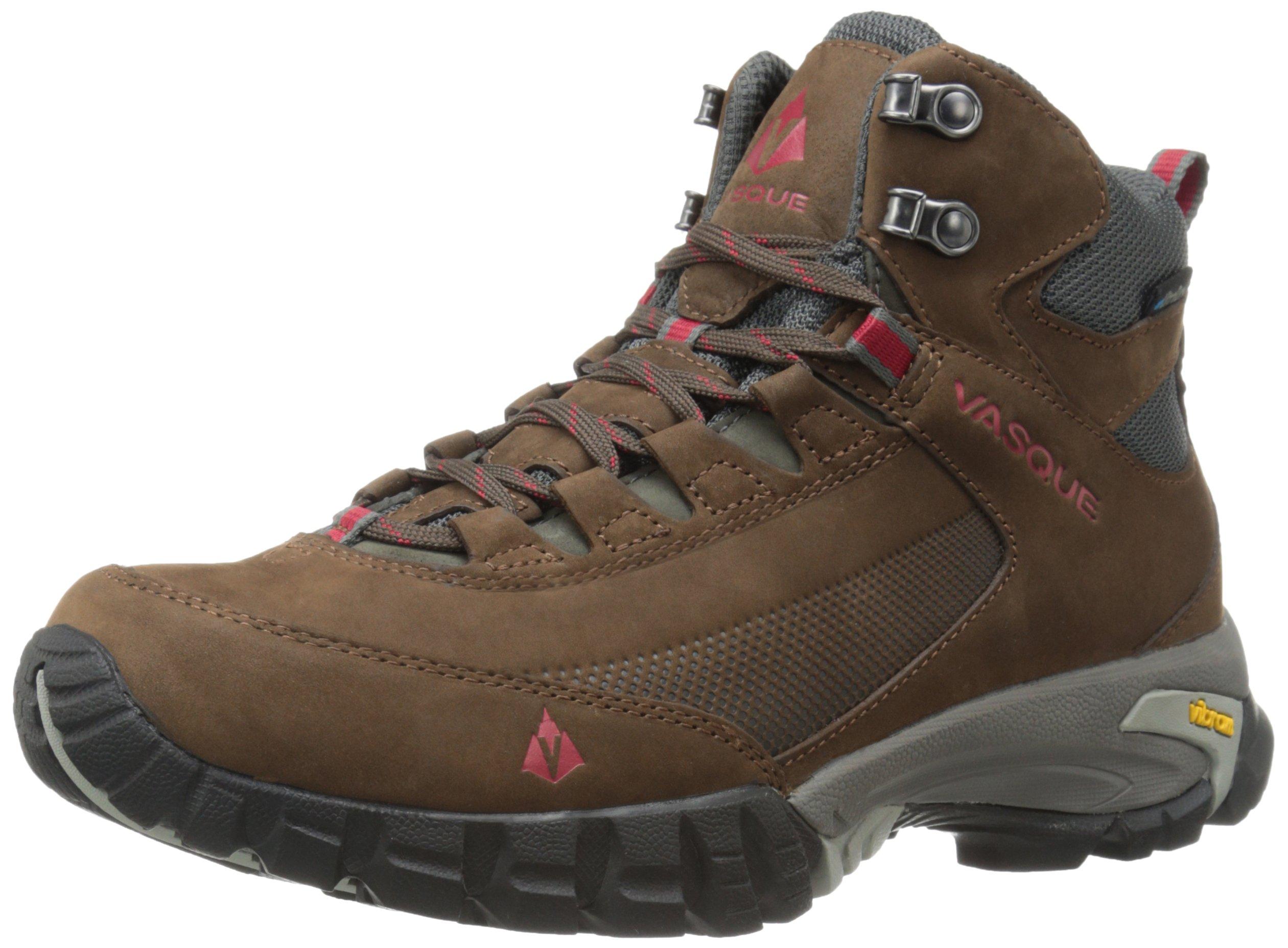 Vasque Men's Talus Trek Ultradry Hiking Boot, Slate Brown/Chili Pepper, 12 M US
