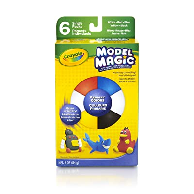 Crayola Model Magic .5 Ounces 6/Pkg-Primary: Toys & Games