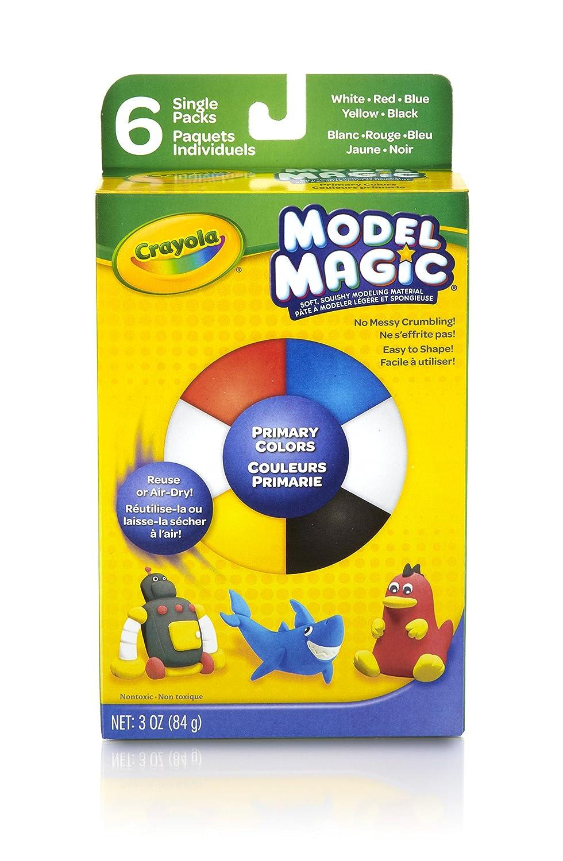 Crayola Model Magic .5 Ounces 6//Pkg-Primary 23-2402 ds-tru-10CA2D75 Art Supplies Arts and Crafts Clay