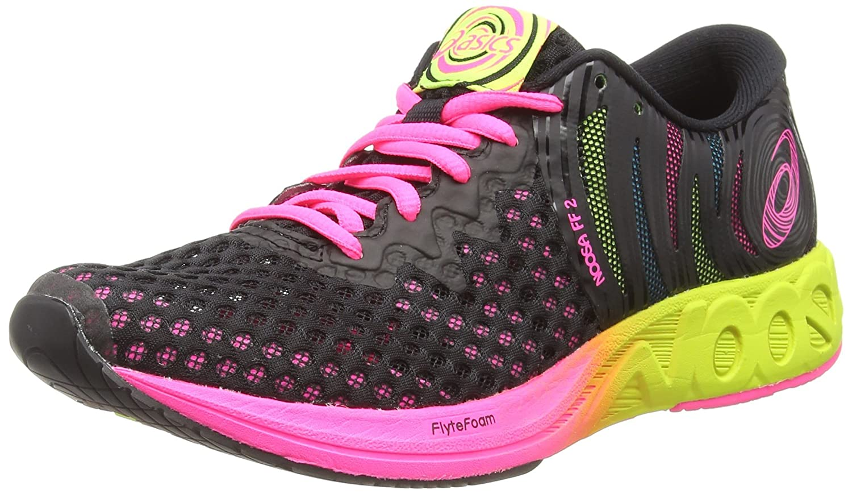 Asics Noosa FF 2, Zapatillas de Entrenamiento para Mujer 42 EU|Negro (Black/Hot Pink 001)