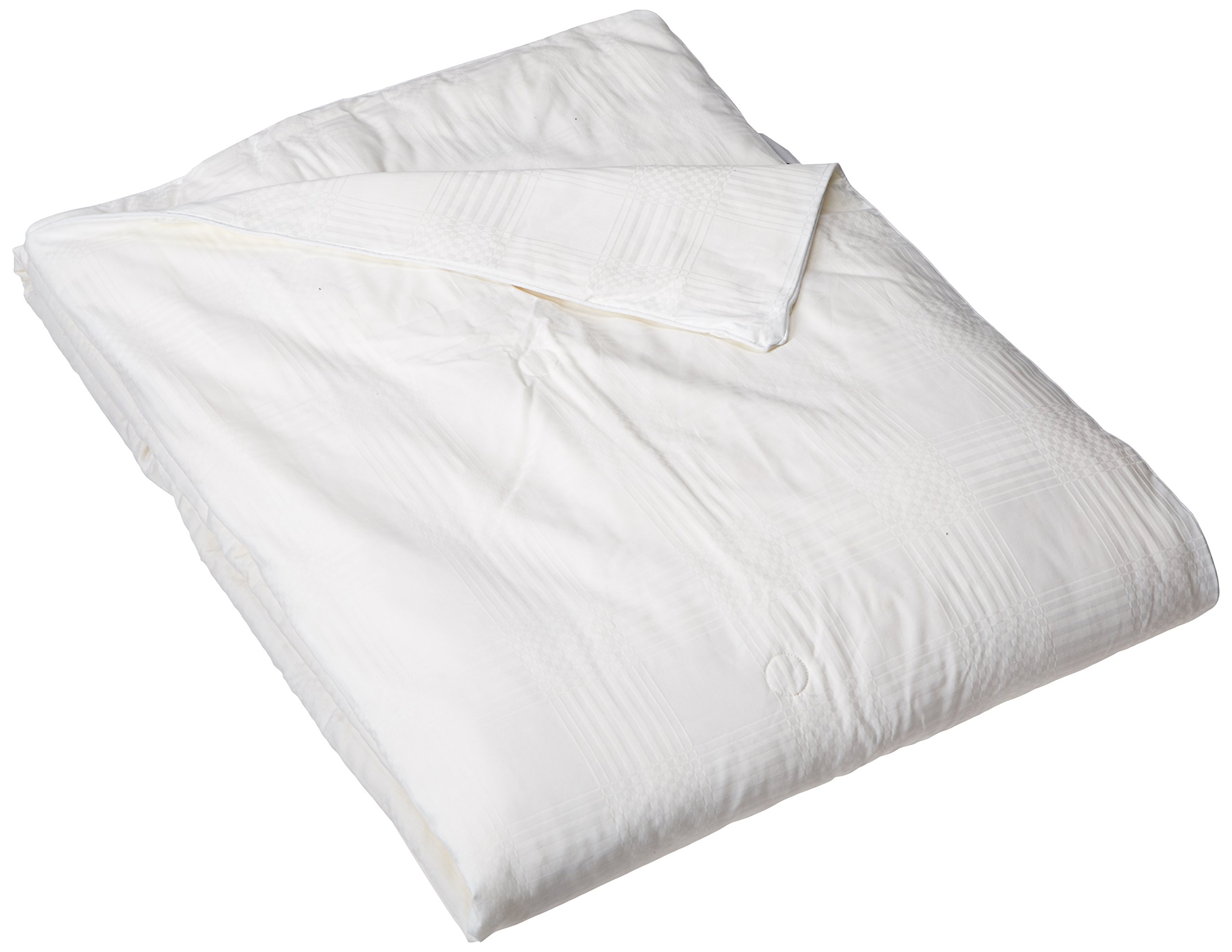 Natural Comfort Ultra Deluxe 100-Percent Natural Mulberry Silk Filled Dobby White Comforter for Summer, Queen by Natural Comfort