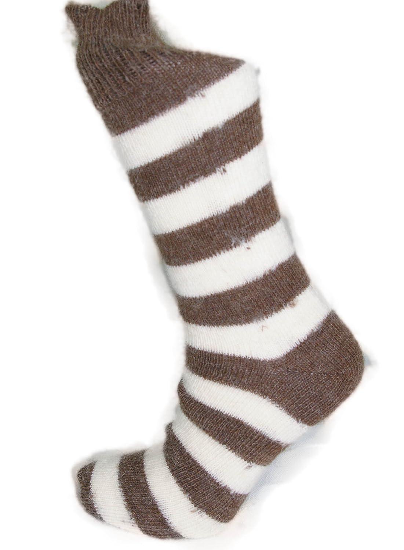 hard wearing for everyday. Striped Alpaca socks thick warm 55/% Alpaca wool 45/% Nylon