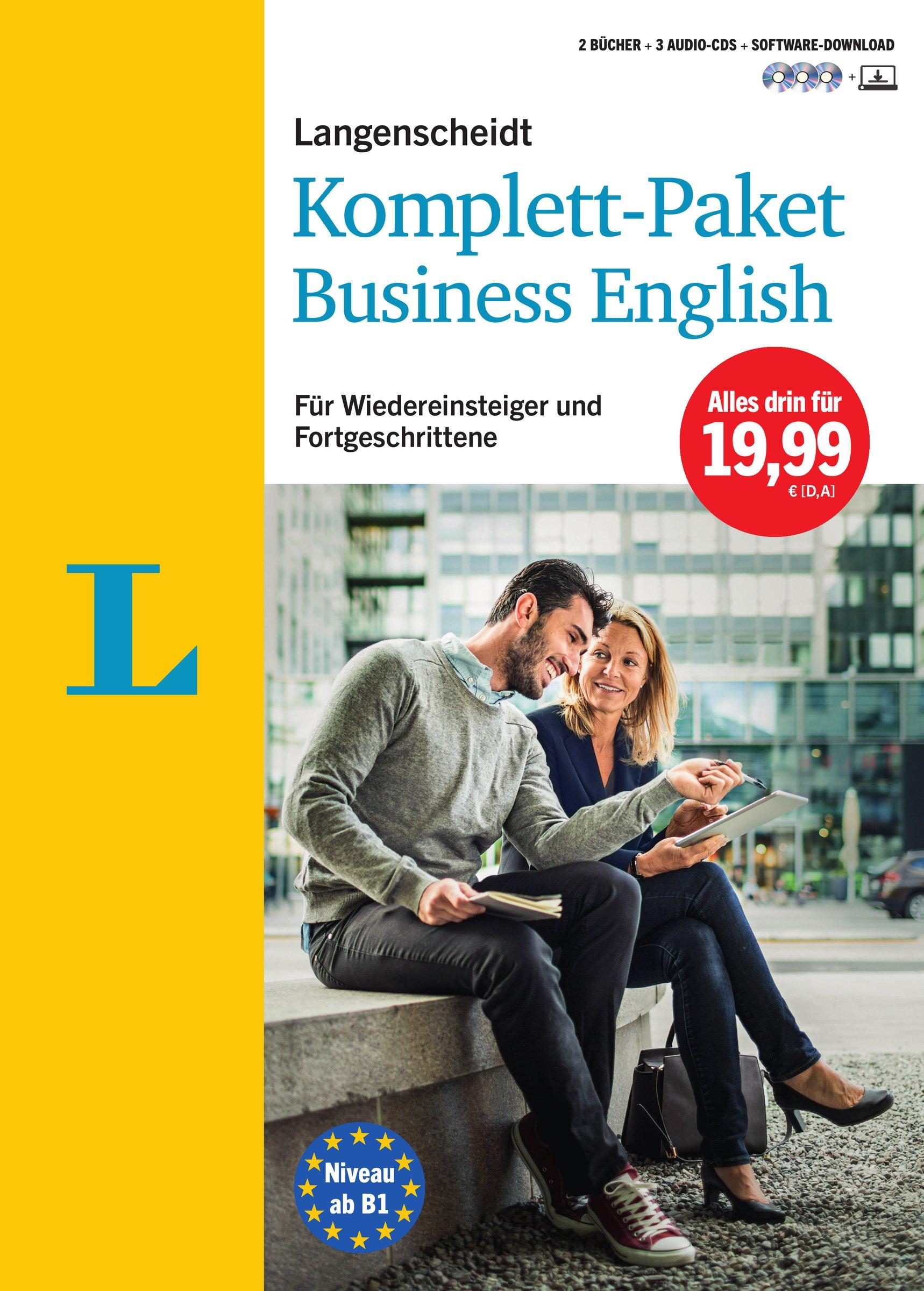 Langenscheidt Komplett Paket Business English   Sprachkurs Mit 2 Büchern 3 Audio CDs Und Software Download  Sprachkurs Für Wiedereinsteiger Und Fortgeschrittene