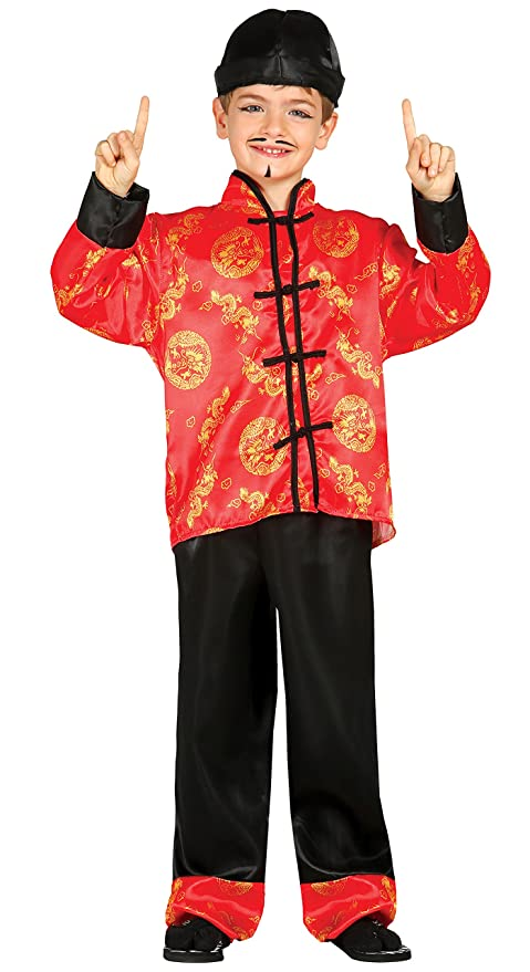 outlet in vendita migliore vendita materiale selezionato Guirca Costume vestito cinese orientale carnevale bambino 8565_ 3-4 anni