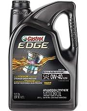 Castrol 03101 Edge 0W-40 A3/B4 Aceite de Motor sintético avanzado, 5 Cuartos, 1 Paquete