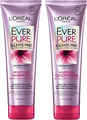 L'Oréal Paris EverPure Moisture Shampoo & Conditioner Kit for Color-Treated Hair, 8.5 Ounce, Set of 2 (Packaging May Vary)