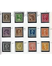 U.S. Postage Stamps: 1932 George Washington Bicentennial Complete Collection; Scott #s 704, 705, 706, 707, 708, 709, 710, 711, 712, 713, 714, 715 by U.S. President