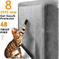 """GAMURRY Cat Scratch Deterrent Tape,2020 New Furniture Scratch Guards,Pet Anti-Scratch Pads Furniture Protection for Upholstered Sofa,Door, Walls,Car Seat(8 Pcs,18"""" Lx 12"""" w)"""