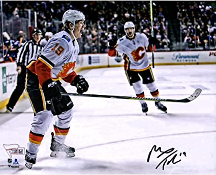 Matthew Tkachuk Calgary Flames Autographed 8 X 10 Red Jersey Skating Photograph Autographed Nhl Photos At Amazon S Sports Collectibles Store
