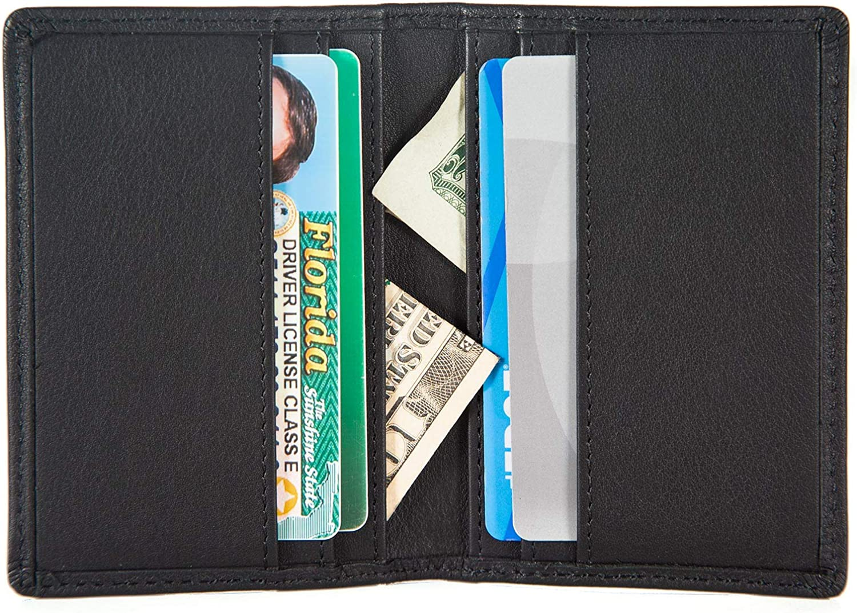 Mens Leather Bifold Wallet//Card Holder Wallet