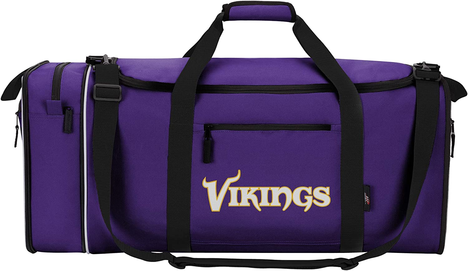 """Officially Licensed NFL Steal Duffel Bag, Multi Color, 28"""" x 11"""" x 12"""""""