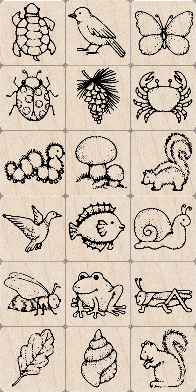 Hero Arts Ink and Stamp Set, Nature (LP1699-LL373)
