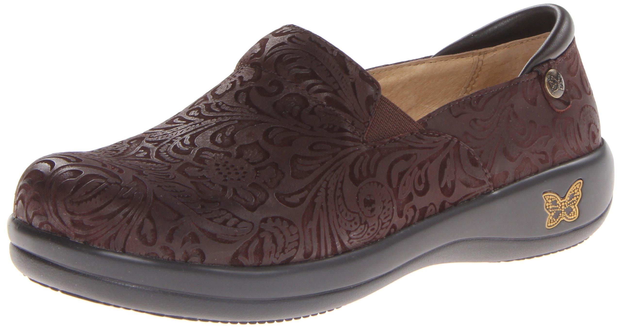 Alegria Women's Keli Professional Slip Resistant Work Shoe,Choco Embossed Paisley,39 BR/9-9.5 M US