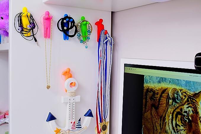 Fun & Colorful soporte para cepillos de dientes cepillo de juego para niños, ideal para motivar tus hijos a sus dientes, pack de 6 montado en la pared ...