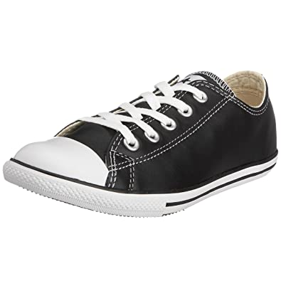 6496f1063aea Converse Unisex Chuck Taylor Slim Leather OX Lace-Up Black 113937 3 ...