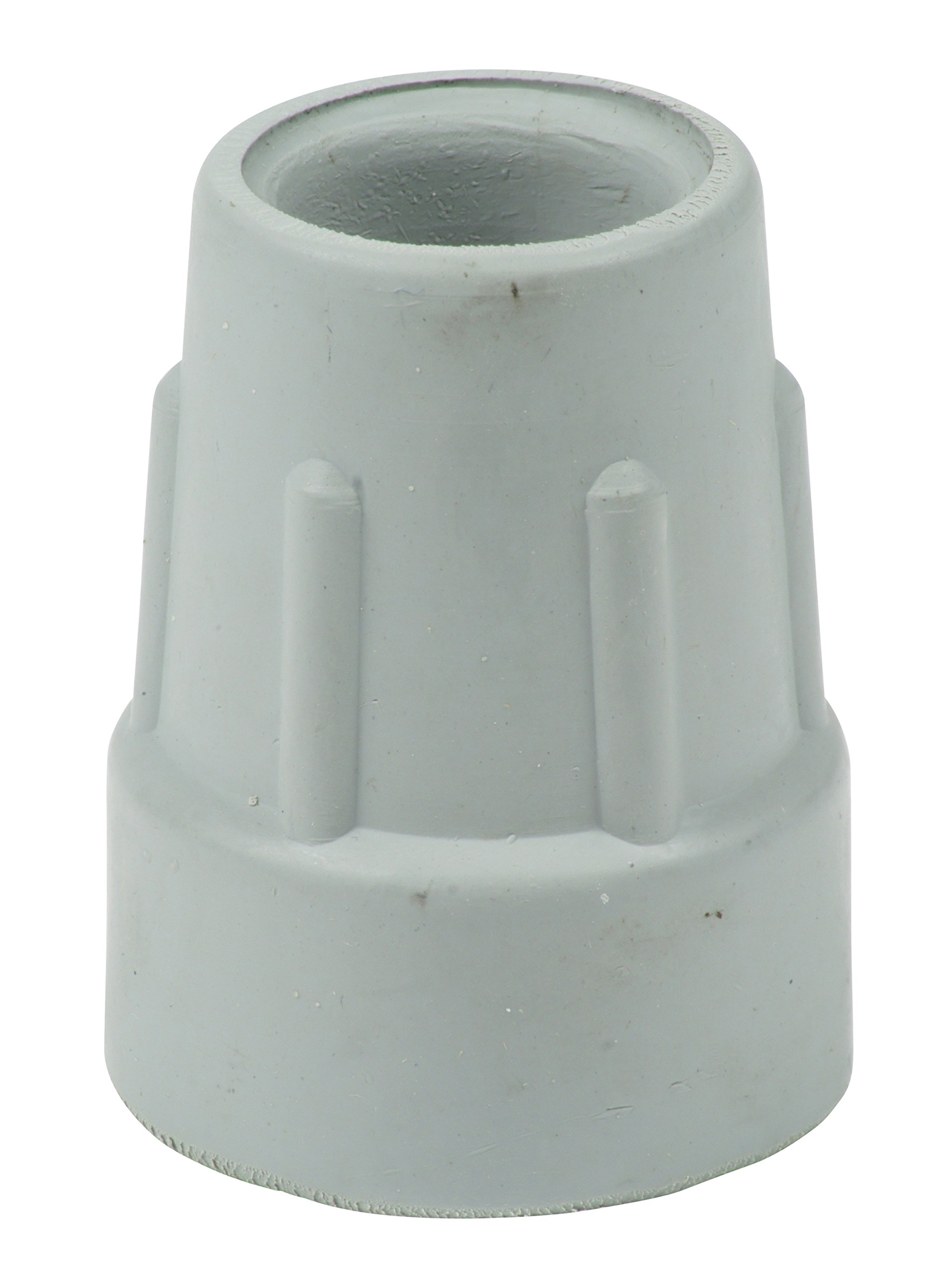 """Qty: 4X 22mm (7/8"""") Heavy Duty Rubber Ferrules for Crutches - Grey - by Lifeswonderful®"""