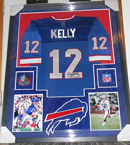 a20e10bdb14 Jim Kelly Autographed Signed Autograph Jersey Framed Suede Matte Auto  Patches Sports Memorabilia JSA Certificate of