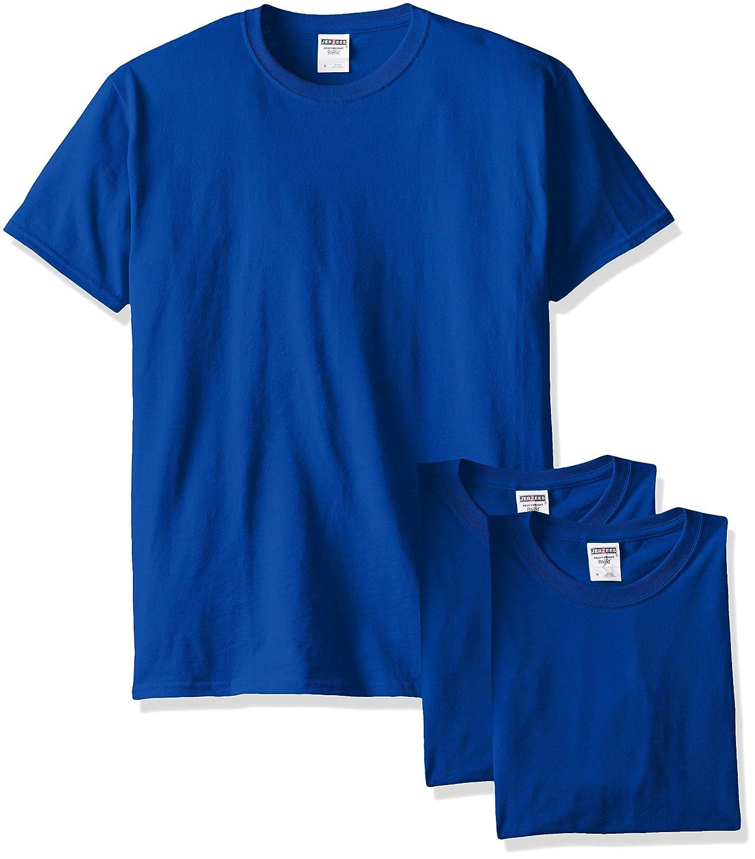Jerzees メンズ 大人用 半袖Tシャツ(3枚組) B00T7UBA6M 4L|ロイヤル ロイヤル 4L