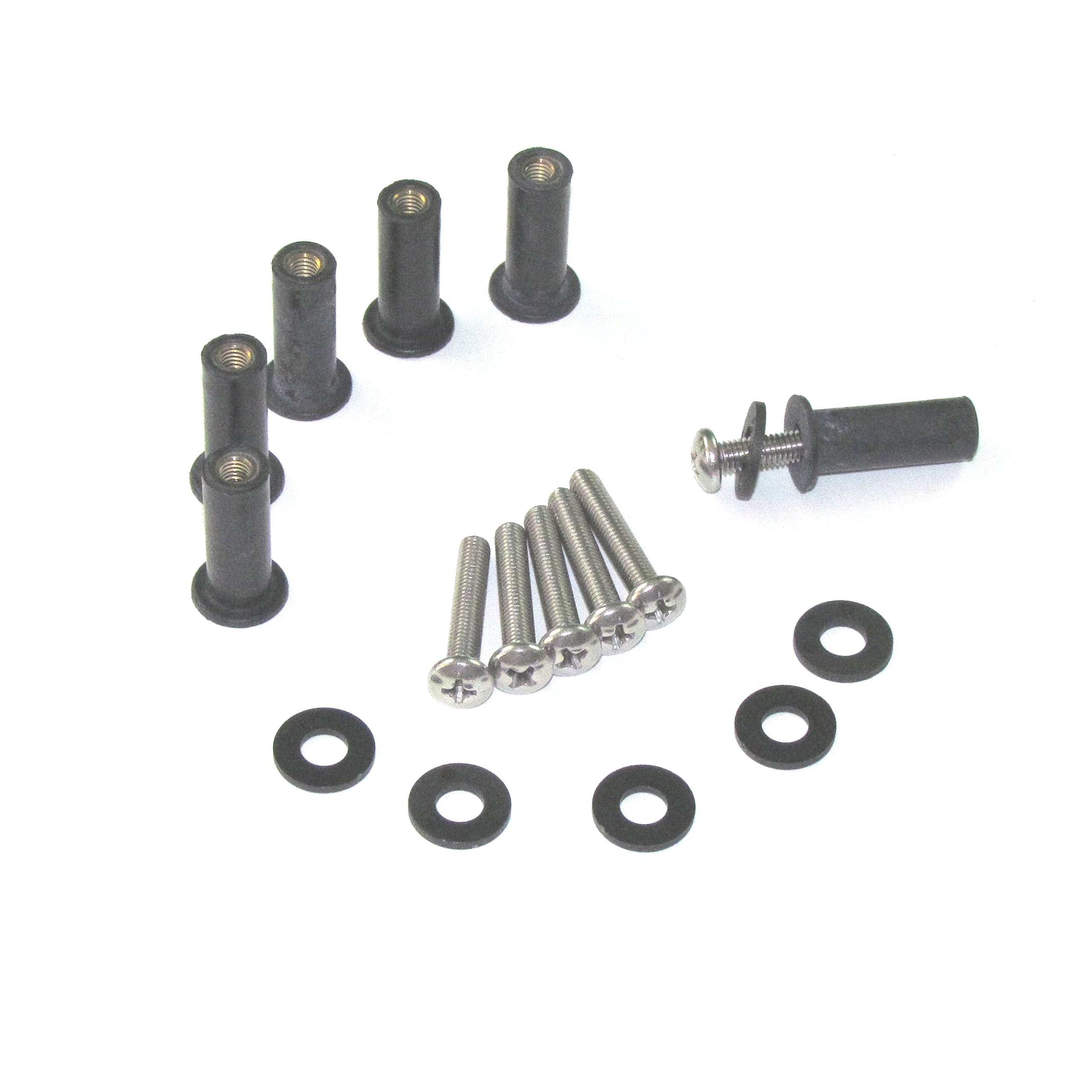Bike Boltz Harley Road Glide Upgraded Windscreen Bolt Kit - Includes All Hardware for Windscreen Installation Multiple Colors and Quantities Available (6 Sets, Silver Stainless Steel)