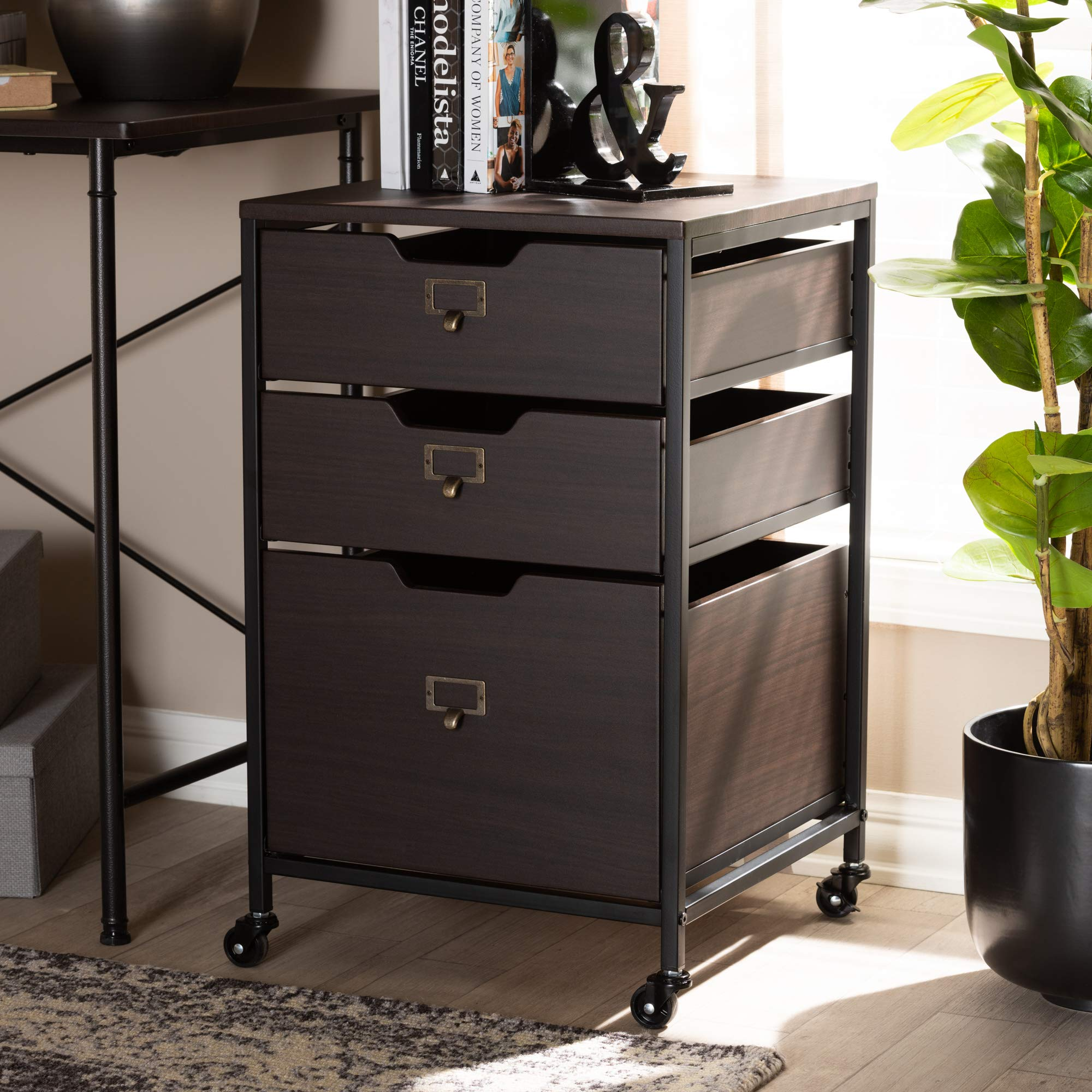 Baxton Studio 155-9688-AMZ Multipurpose Shelving and Cabinets, One Size, Espresso by Baxton Studio (Image #9)