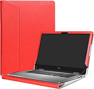 """Alapmk Protective Case Cover for 15.6"""" Dell Inspiron 15 2-in-1 5578 5568 5579 i5578 i5568 i5579 Laptop(Warning:Only fit Model 5578 5568 5579),Red"""