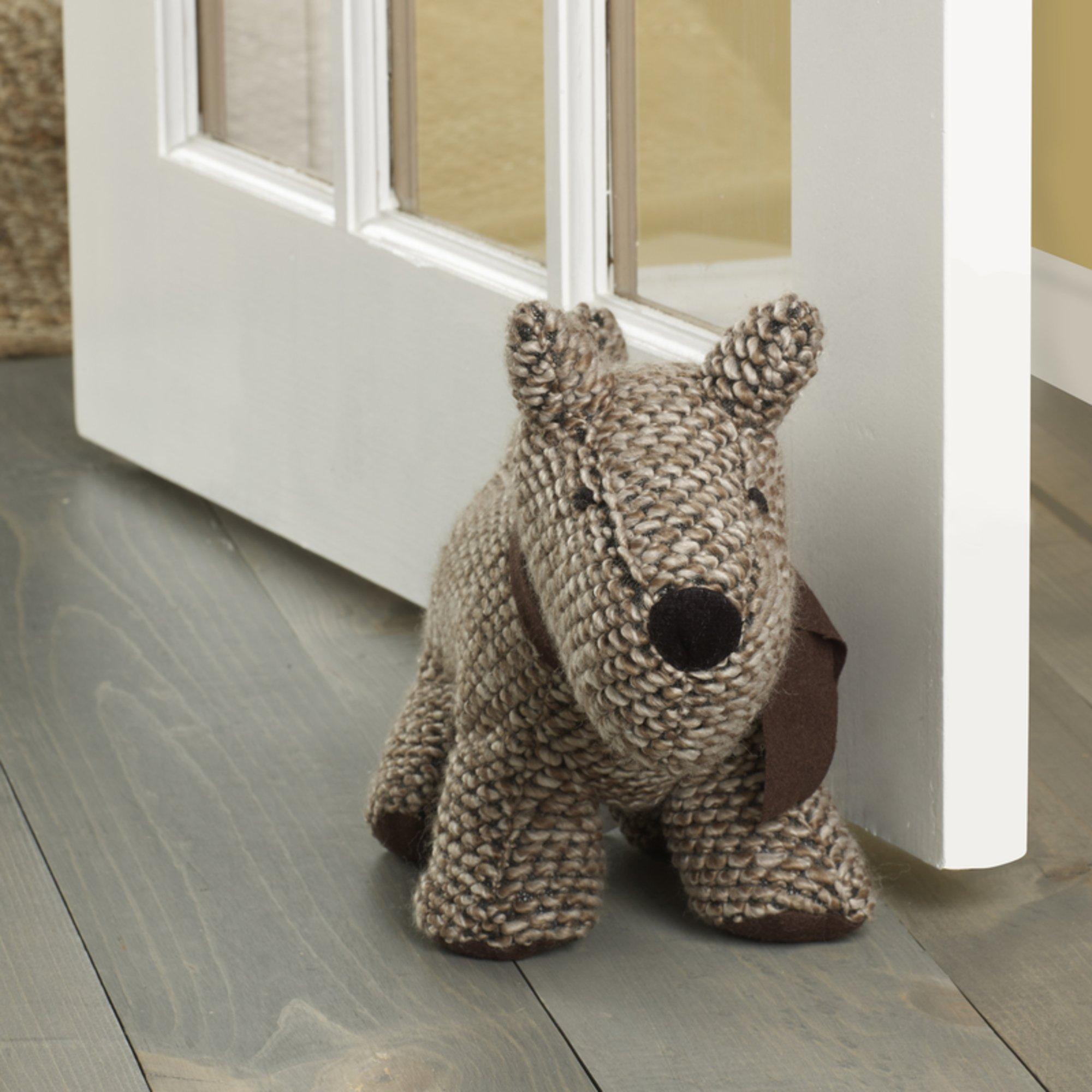 Elements Door Stopper, Brown Dog