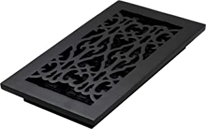 Decor Grates AC612-BLK Victorian Floor Register, 6 x 12, Cast Iron Black