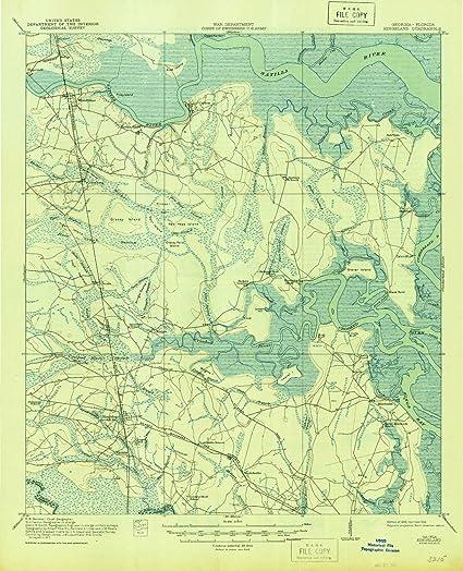 Map Of Kingsland Georgia.Amazon Com Yellowmaps Kingsland Ga Topo Map 1 62500 Scale 15 X 15