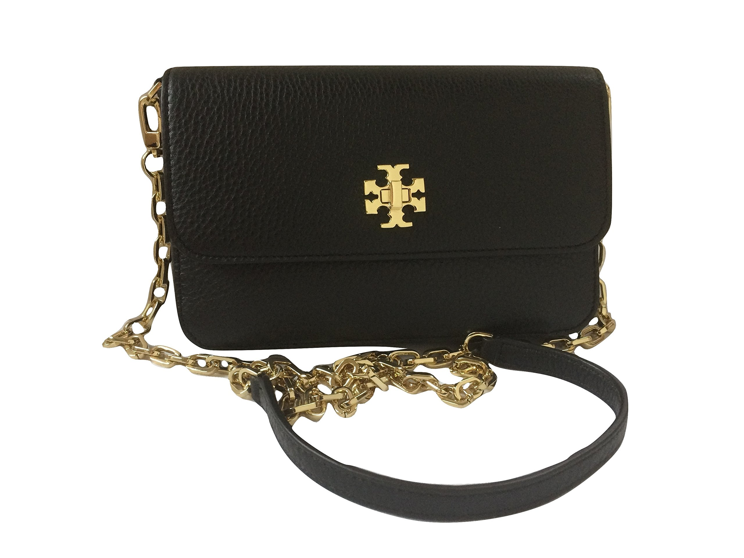 Tory Burch Mercer Classic Cross-body Bag Clutch Purse Style No. 31409 (Black) by Tory Burch