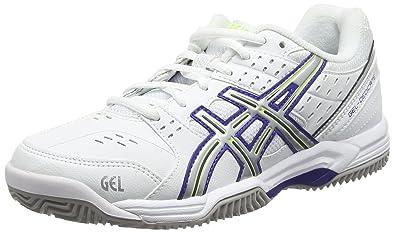 Asics Gel-Dedicate 3 Clay, Chaussures de Tennis Femme - Blanc (White/Royal Blue/Silver 0143), 37.5 EU