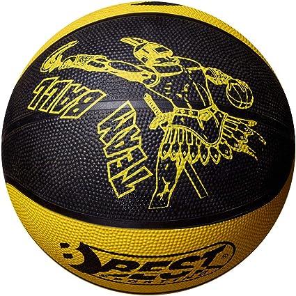 Best Sport Team Balón de Baloncesto niños, Team, Negro/Amarillo ...