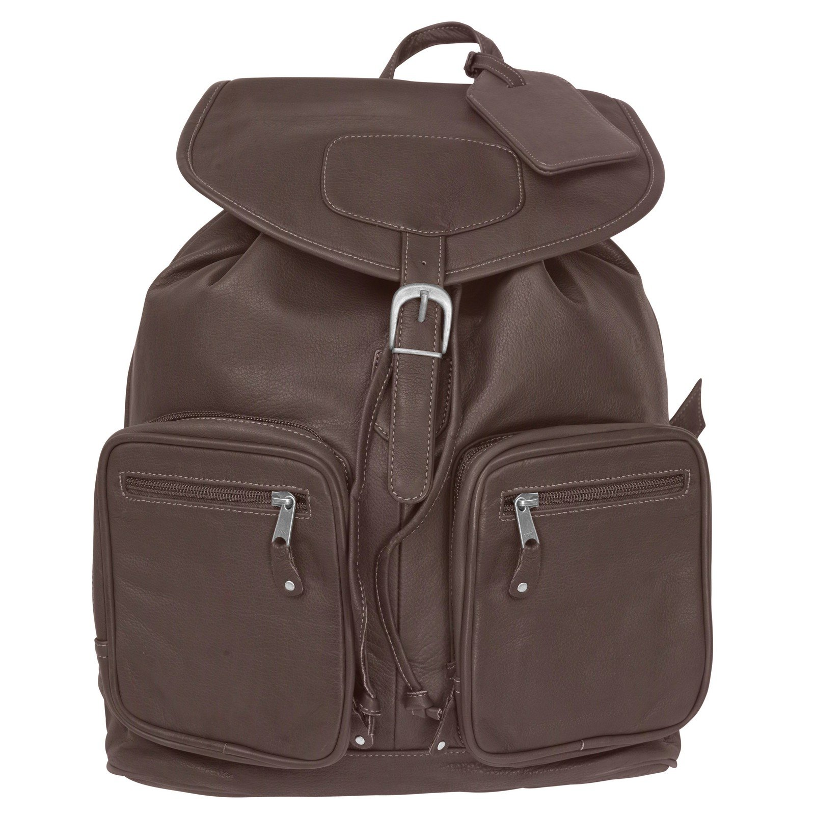Canyon Outback Grand Canyon Leather Computer Backpack, Brown, One Size