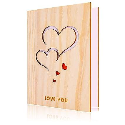 Tarjeta de San Valentín - Dos grandes corazones: Amazon.es ...