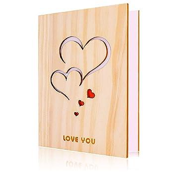 Tarjeta de amor, Tarjeta de felicitación amorosa de madera ...