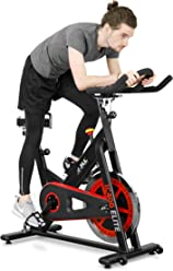 JLL IC400 ELITE Indoor Cycling Exercise Bike, 2018 Edition, Premium Domestic Machine, Featuring Advanced Cycling Performance Technology, Studio Grade Features, Direct Belt Driven 20kg Flywheel with Adjustable Friction Resistance, Competitive Q-Factor Heavy Duty Frame, 3-Piece Crank, Large 6-Function Monitor, Emergency Stop System, Ergonomic Handlebars with Heart Rate Sensors, Fully Adjustable Seat, Built In Wheels, 2 Large Item Holders, 12 Months Home Use Warranty Only