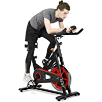 JLL IC400 ELITE Indoor Cycling Exercise Bike, Direct Belt Driven, 20kg Flywheel, Friction Resistance, Monitor, Ergonomic Handlebars, Heart Rate Sensors, Adjustable Seat, 12 Months Domestic Warranty