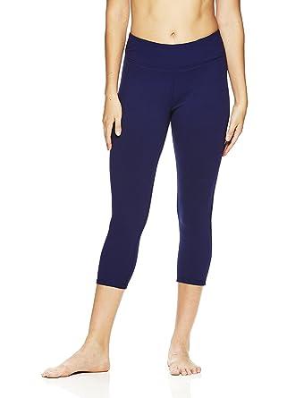 fac74d2eb8b56 Amazon.com: Gaiam Women's Capri Yoga Pants - Performance Spandex  Compression Legging - Medieval Blue, X-Small: Clothing