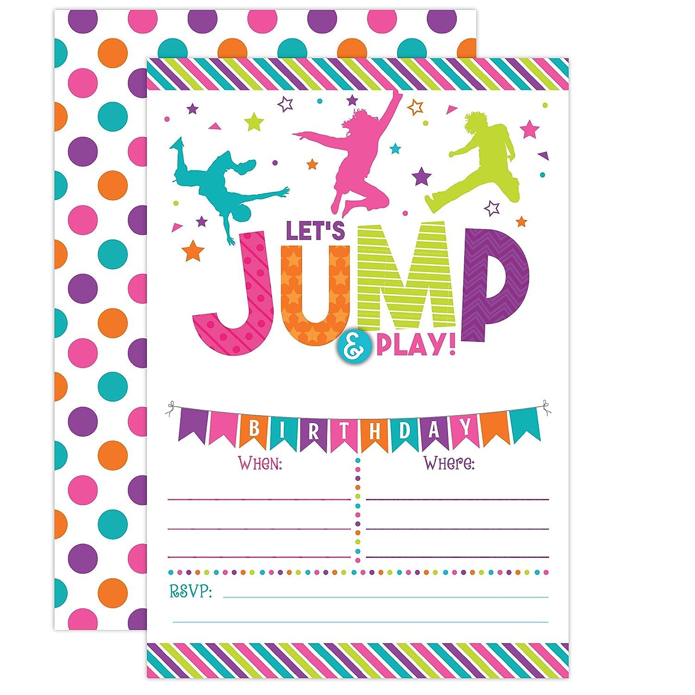 Bounce House Birthday Invitation - Trampoline Jump Birthday Invite ...