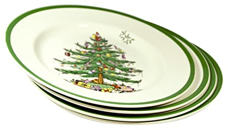 SPODE Christmas Tree Dinner Plates 27cm x4  sc 1 st  Amazon UK & SPODE Christmas Tree Dinner Plates 27cm x4: Amazon.co.uk: Kitchen u0026 Home