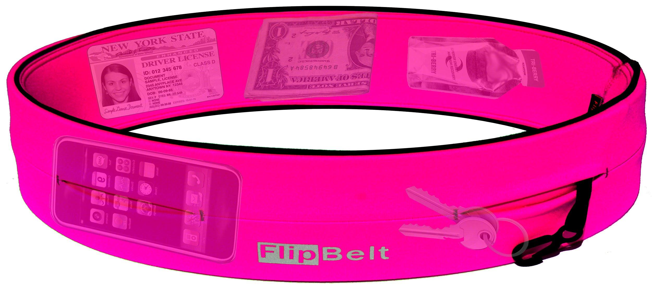 FlipBelt Level Terrain Waist Pouch, Hot Pink, X-Small/22-25'' by FlipBelt (Image #2)