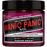 Manic Panic Fuschia Shock Hair Dye – Classic High Voltage - Semi-Permanent Hair Color - Dark Pink Fuschia Shade - For…